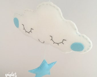 Sebastian Stargazing Cloud / Cloud Mobile Nursery Decoration