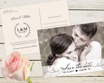 Save the Date Postcard, Save the Date Photo Postcard, Save the Date printable invite, GD_SD105