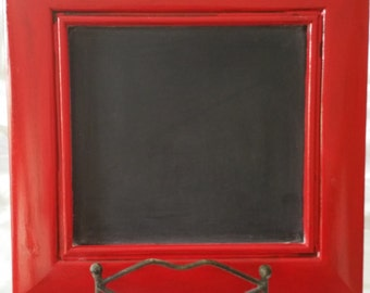 Upcycled shabby chic red chalkboard
