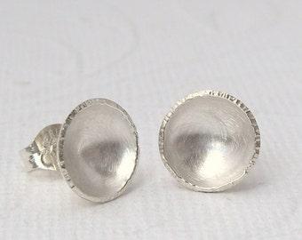 Shell earrings, 925 Silver, earrings, bowls, matt, glossy.
