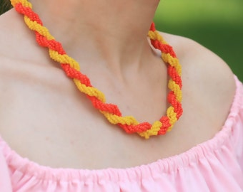 Bright simple Bead Necklace, statement necklace, summer jewelry, handmade, gift for her