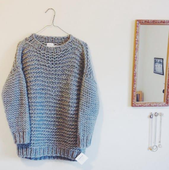 Knitting Pattern : Cozy Big Knit Sweater