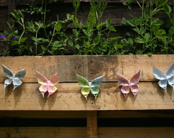 Paper Butterflies String in Pastel Shades