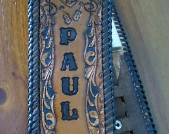 Custom Made Leather Guitar Straps