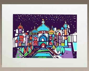 Art Print- Taj Mahal NIght