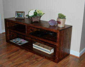 TV Stand rustic, tv stand , Entertainment Center, Media Console, rustic