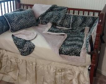 Leopard Print Crib Set