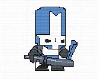 Blue Knight (Castle Crashers) Cross Stitch Pattern (PDF)