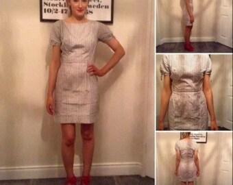 Vintage 1960s mod mini mad men wiggle dress