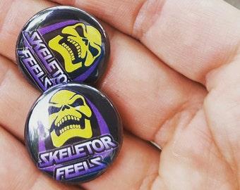 Skeletor Feels 1 inch button