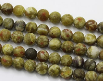 Nice Matte Dragon Blood Jasper Gemstone Round Loose Beads 6mm/8mm/10mm Approximate 15.5 Inches per Strand.R-M-JAS-0249