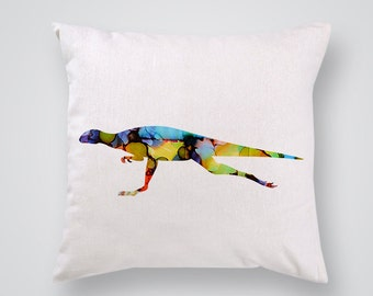 Colorful Dinosaur Decorative Pillow - Pillow Cover - Throw Pillow - Home Decor