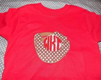Personalized baseball glove shirt