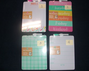 Magnetic Memo Boards. Target Dollar spot stationery