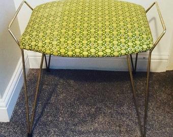Retro Geometric Hairpin Stool Chair 1960s