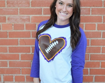 Football Heart - Purple
