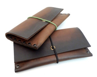 Leather tobacco pouch leather case