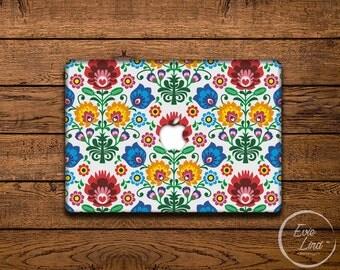 MacBook Vinyl Decal Floral - MacBook Air Sticker - Ethnic MacBook Skin - Floral MacBook Sticker EL018