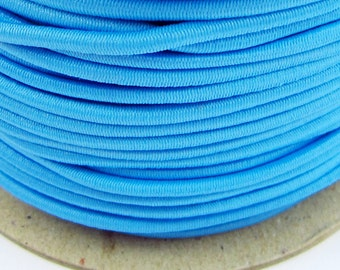 5, 10, 50 m rubber cord 3 mm light blue