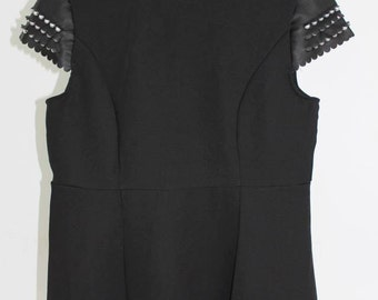 "model #t 100 brand new women's casual tunic top black ""you&you jeans"",size-S,M"