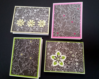 4 X 5 Set of four note cards, blank inside