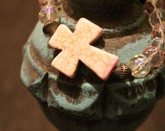 Bling Cross Bracelet