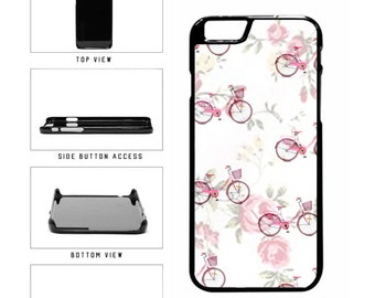 floral pink bicycle pattern