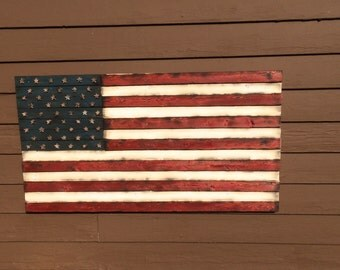 American Wooden Flag, 3D Distressed