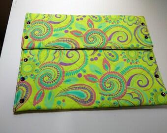 Retro Paisley Tablet Case; Tablet Case With Swarovski Crystals