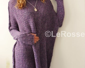 Oversized/Slouchy/Loose knit sweater. Chunky knit sweater. Alpaca women sweater.