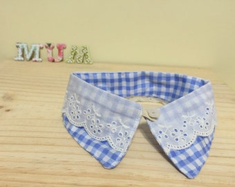Detachable Peter Pan Collar with lace for baby girl