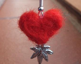 Pixi heart earrings