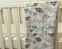 Queen Annes Lace swaddle blanket-floral- stroller blanket-car seat blanket