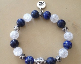 Bracelet with lapis lazuli and rock crystal!