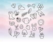 Animals SVG, Birds svg, Cut file, Mushroom svg, digital download files for Silhouette, Cricut, vector graphics Vinyl Cutting Machines