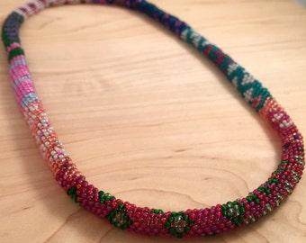 Serpentine Peyote Stitch Necklace