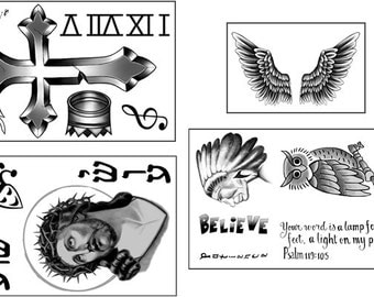 Justin Bieber Temporary Tattoo Bundle