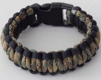 Paracord Bracelet - Camo & Black