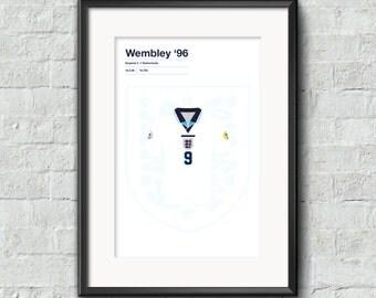 England  v Netherlands Euro 96 poster