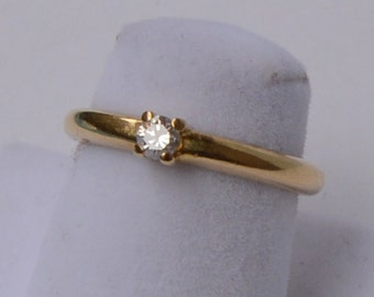 18 k Gold Diamond 0 10ct Solitaire Engagement ring Solitaire gold 18 k and diamond size 0 bright, ideal 10ct for commitment