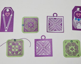 Hmong Gift Tag - Set of 12