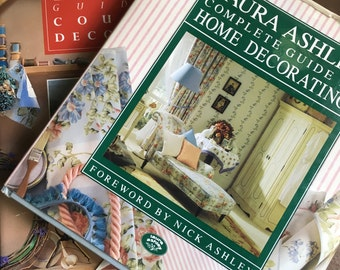 Vintage Laura Ashley Home Decorating and Country Decorating Books First Editions 1989 1992 Vintage Laura Ashley Books Vintage Home Decor