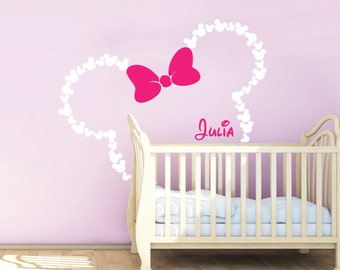 mouse wall decal etsy. Black Bedroom Furniture Sets. Home Design Ideas