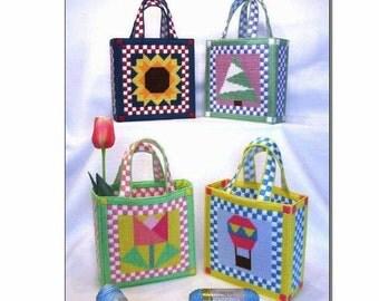 Seasonal Quilted Tote Bags (Set of 4)