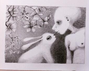 bunny (original drawing)