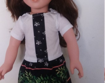 """Blouse and skirt for American Girl and other 18"""" dolls"""