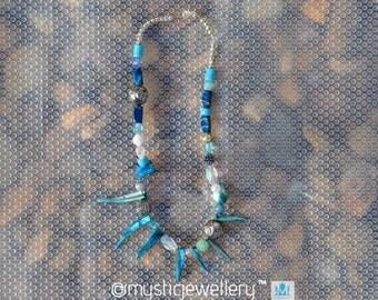 Randomized handmade beach inspired necklace