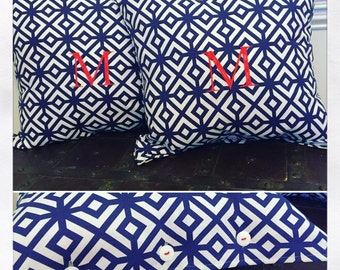 Outdoor Monogrammed Pillow Covers