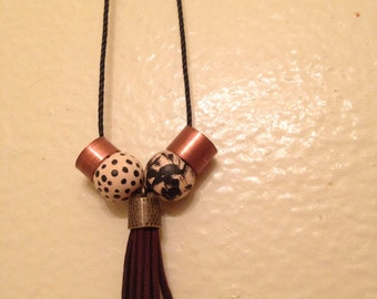 Copper Tassle Necklace