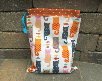 Smarty Cats Drawstring Project Bag